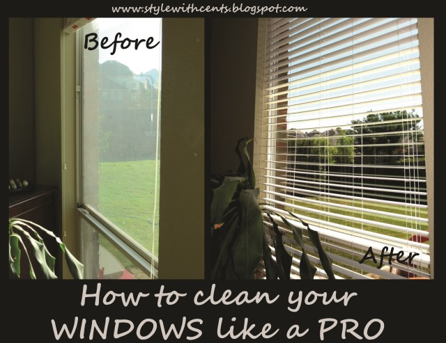 How to clean your windows like a pro. CHEAP and FAST using Sprayaway and a squeegee. www.stylewithcents.blogspot.com