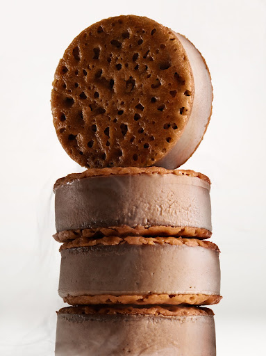 Chocolate creme brulee frozen sandwiches. (Martha Stewart Living)