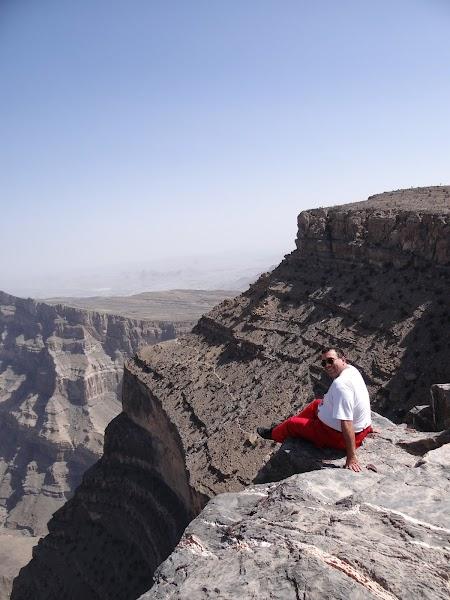 Marele Canion omanez: Pe marginea canionului