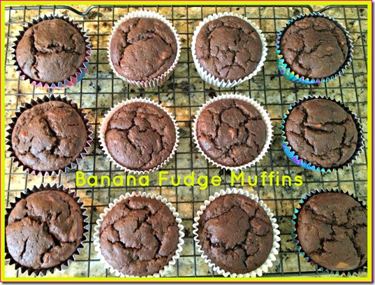 fudge banana muffins
