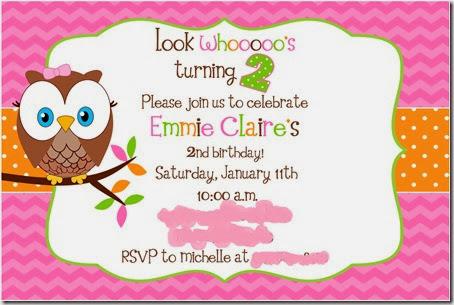Emmie 2nd invite
