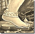 Shri Hanuman's lotus foot