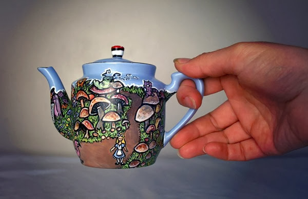 Elspeth Rose painted teapot