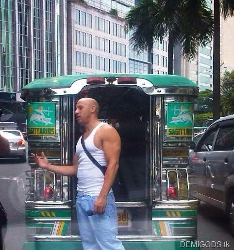 Vin Diesel rides jeep