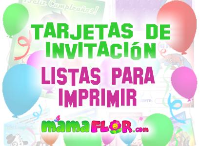 Tarjetas de Invitación de Cumpleaños Originales ★ Para Imprimir ...