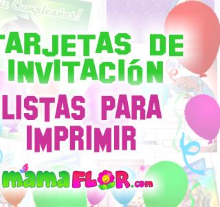 Tarjetas de Invitación de Cumpleaños Originales ★ Para Imprimir