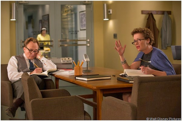 Don DaGradi (Bradley Whitford) and P.L. Travers (Emma Thompson) at another impasse in SAVING MR. BANKS.