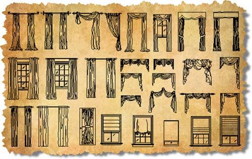 window treatments sketch