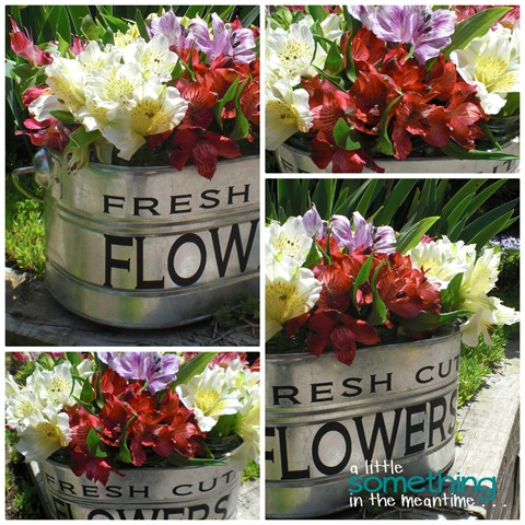 Fresh Cut Flowers Collage WM