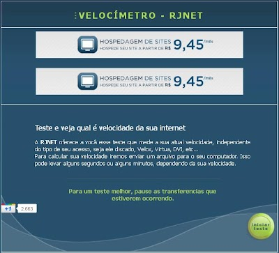 Medir a Velocidade da Internet RJNET