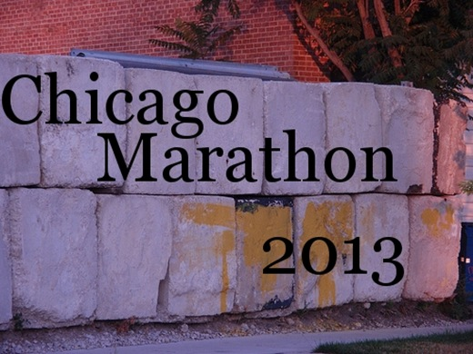 Chicago Marathon 2013_Brick Wall with Yellow Paint