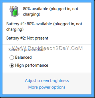 """Battery Issue 80%, 50% Avilable """"Plugged in, not charging"""""""
