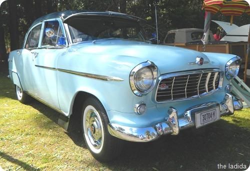 Vintage Blue Car 3