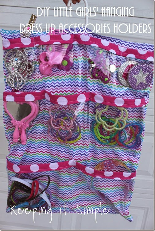 DIY Little Girls Hanging Jewelry Holder
