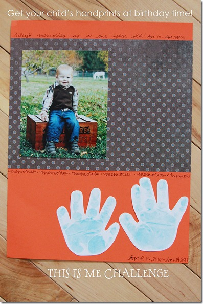 Baby's Handprints and Picture