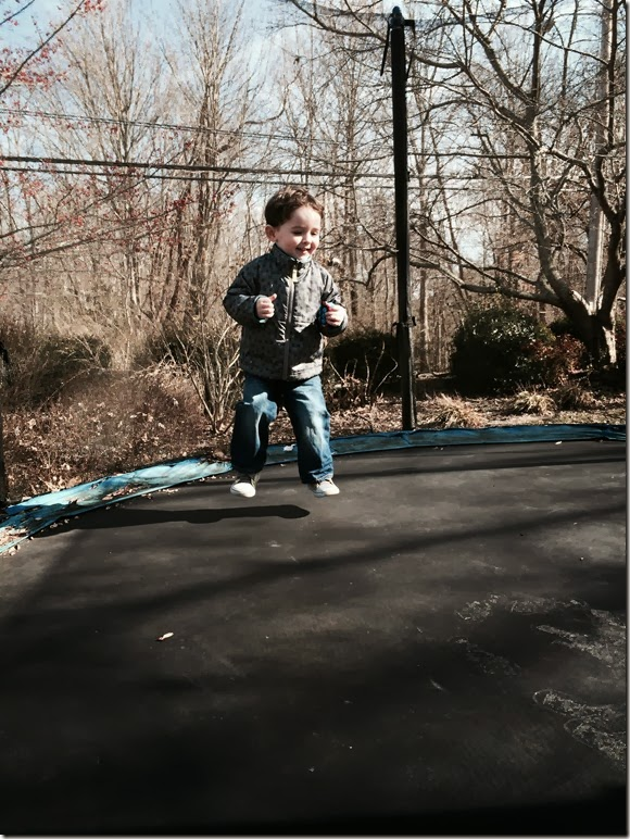 Knox jump on trampoline 2  1 26 14
