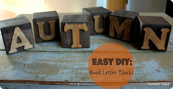 easy DIY wooden letter blocks