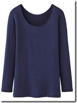 Uniqlo Long Sleeved Scoop Neck Top