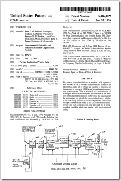 Patent front page