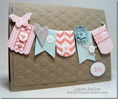 LeAnne Pugliese WeeInklings Pennant Thank You Card