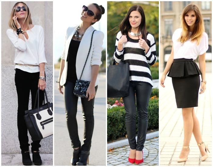 moda preto e branco looks - como usar 04