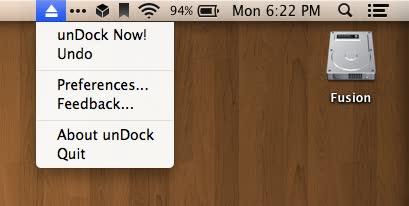 Mac app undock menubar
