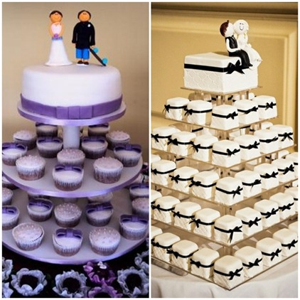 O BOLO - TORRE DE CUPCAKES - MINI WEDDING