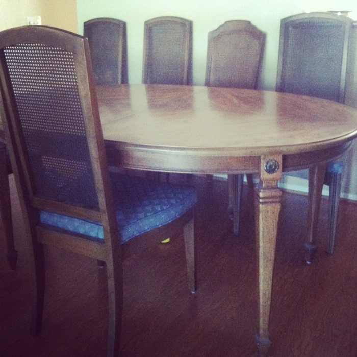 before dining room chairs