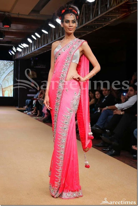 Pink_Embroidery_Georgette_Saree