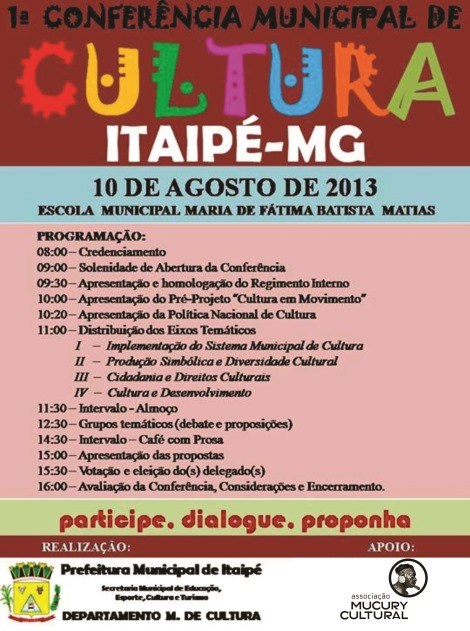 flyer conferência municipal