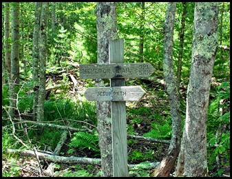 05b - Hemlock trail - reached Jessup Trail - Sign