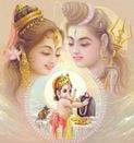 Shiv, Parvati and Ganesha