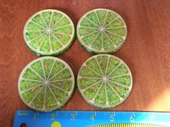 Acrylic lime coasters top