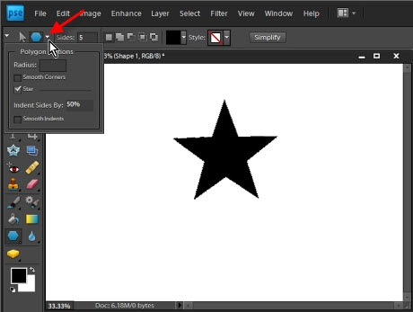 geometry options photoshop elements