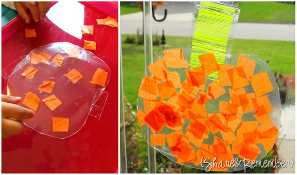 tissue paper pumpkins