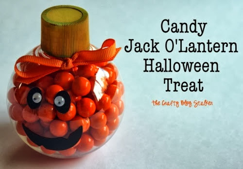 Candy Pumpkin Halloween Treat by The Crafty Blog Stalker