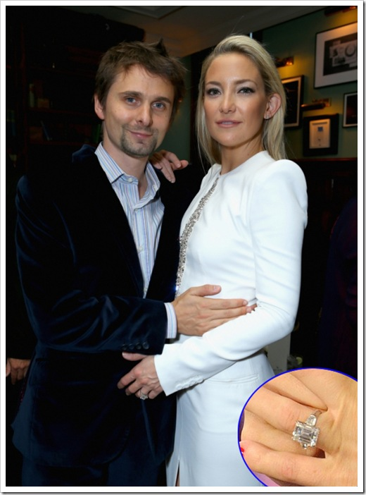 Kate Hudson's nine-carat-diamond engagement ring set