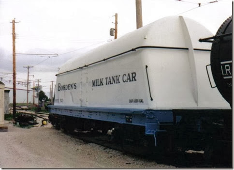Borden's (BFIX) Milk Tank Car #520 at the Illinois Railway Museum on May 23, 2004