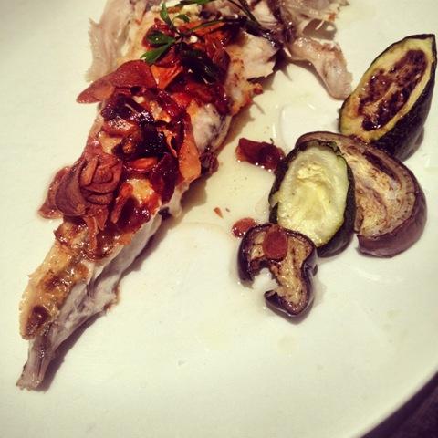 #242 - Monkfsh with garlic oil at Celler de la Planassa