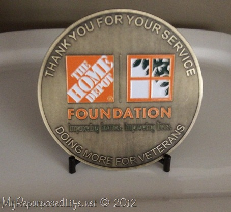 the Home Depot Foundation coin