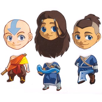 Mix and Match Magnets from Cosplay Scrample - Aand, Katara, & Sokka