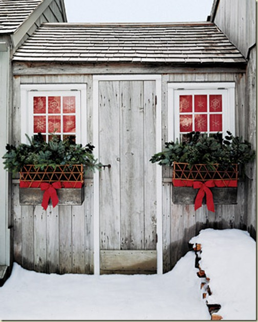 holiday window boxes Martha Stewart