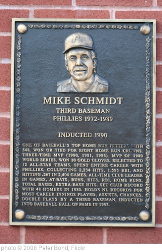 'Mike Schmidt - Hall of Famer' photo (c) 2008, Peter Bond - license: http://creativecommons.org/licenses/by-sa/2.0/