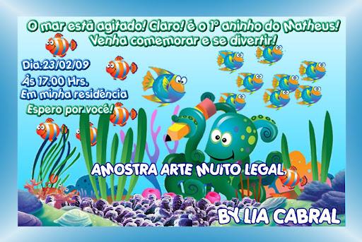 Fundo Do Mar 4   Convite Infantil Fundo Do Mar E Mail Artemuitolegal