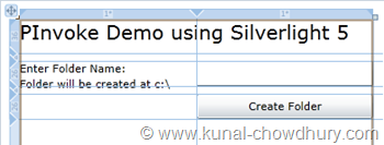 Silverlight 5 RC - PInvoke Demo - Design the UI