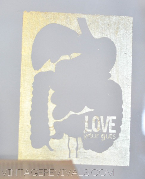 Love Your Guts Gold Leaf Art