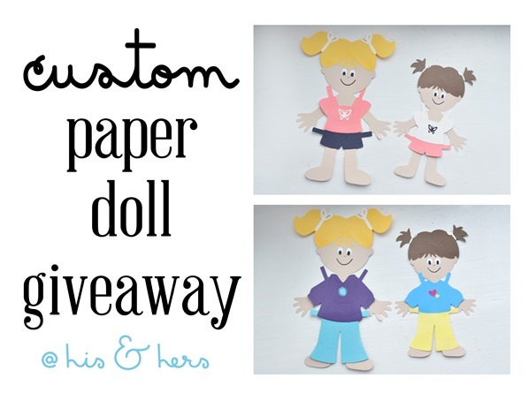 Paper doll giveaway!