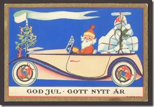 Vanha ruotsalainen joulukortti. Myynnissä Ebayssa.