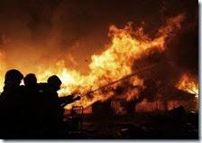 Incendio ex campo Rom Poggioreale