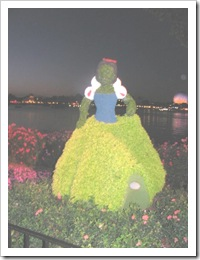 Florida vacation Epcot topiary Snow white